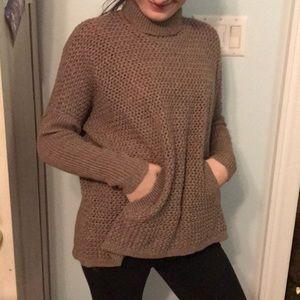 Loft turtleneck sweater with pockets